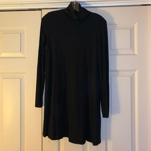 Missguided Black Swing long sleeve dress